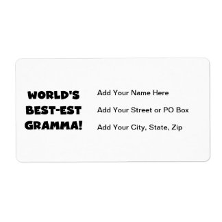 World's Best-est Gramma Black or White Label