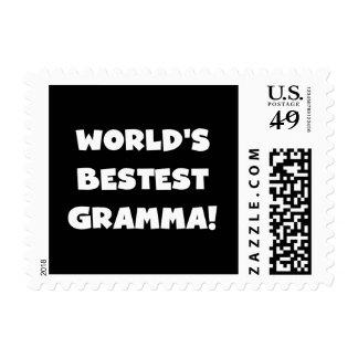 World's Best-est Gramma Black or White Postage
