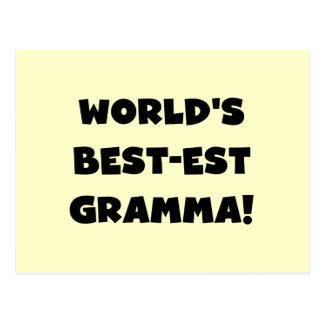 World's Best-est Gramma Black or White Postcard