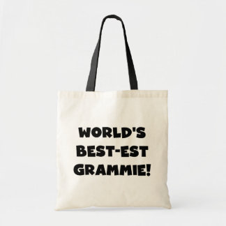 World's Best-est Grammie Black or White Gifts Canvas Bag