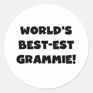 World's Best-est Grammie Black or White Gifts Classic Round Sticker