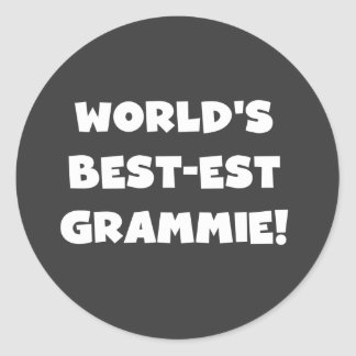 World's Best-est Grammie White T-shirts and Gifts Classic Round Sticker