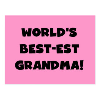World's Best-est Grandma Black T-shirts and Gifts Postcard