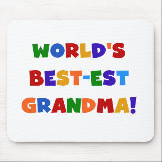 World's Best-est Grandma Bright T-shirts and Gifts Mouse Pad