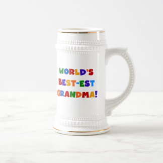 World's Best-est Grandma Bright T-shirts and Gifts Coffee Mugs