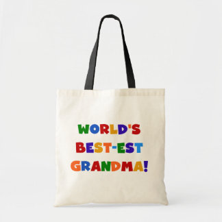World's Best-est Grandma Bright T-shirts and Gifts Tote Bag