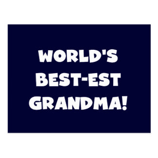 World's Best-Est Grandma White Text Gifts Postcard