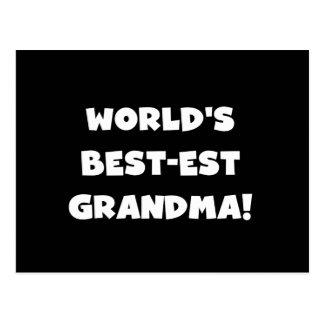 World's Best-Est Grandma White Text Gifts Postcard