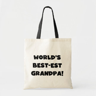 World's Best-est Grandpa Black or White Text Budget Tote Bag
