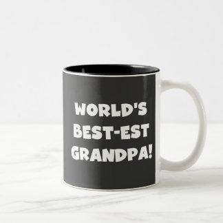 World's Best-est Grandpa Black or White Text Coffee Mug
