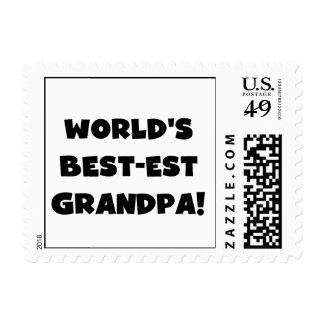 World's Best-est Grandpa Black or White Text Stamp
