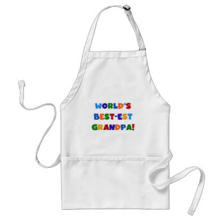 World's Best-est Grandpa Bright Colors Gifts Adult Apron