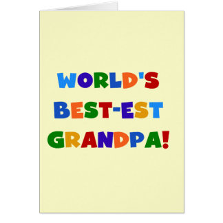 World's Best-est Grandpa Bright Colors Gifts Card