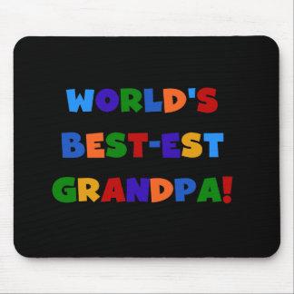 World's Best-est Grandpa Bright Colors T-shirts Mouse Pad