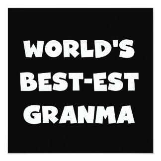 World's Best-est Granma Black and White Card