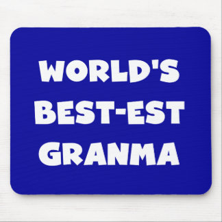 World's Best-est Granma Black and White Mouse Pad