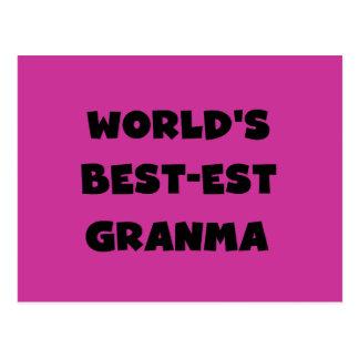 World's Best-est Granma Black and White Postcard