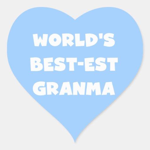 World's Best-est Granma Black and White Heart Sticker