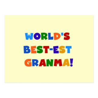 World's Best-est Granma Bright Colors Postcard