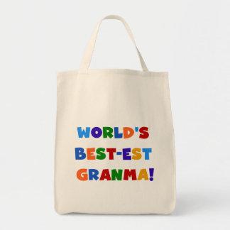 World's Best-est Granma Bright Colors Tote Bag