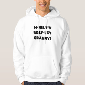 World's Best-est Granny Black Text Tshirts Gifts