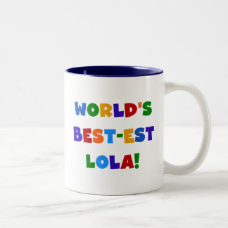 World's Best-est Lola T-shirts and Gifts Two-Tone Coffee Mug