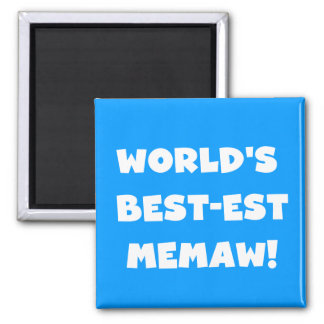 World's Best-est Memaw Black and White T-shirts 2 Inch Square Magnet