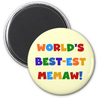 World's Best-est Memaw Bright Colors Tshirts Magnet