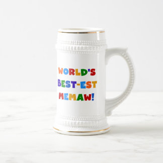 World's Best-est Memaw Bright Colors Tshirts Coffee Mug