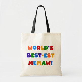 World's Best-est Memaw Bright Colors Tshirts Tote Bag