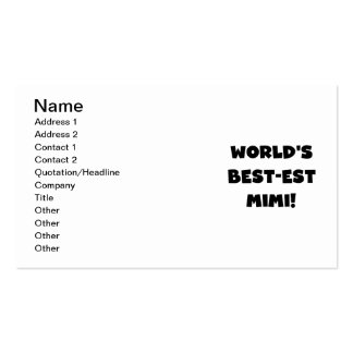 World's Best-est Mimi Black Text T-shirts and Gift Business Card Template