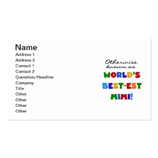World's Best-est Mimi Bright Colors T-shirts Gifts Business Card Templates