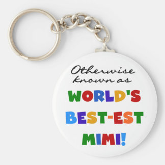 World's Best-est Mimi Bright Colors T-shirts Gifts Keychain