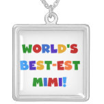 World's Best-est Mimi Bright Colors T-shirts Gifts Personalized Necklace