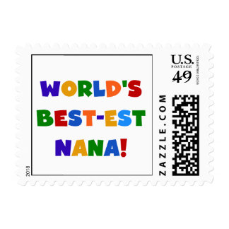 World's Best-est Nana Bright Colors T-shirts Postage