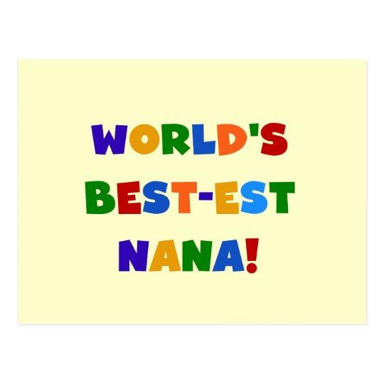 World's Best-est Nana Bright Colors T-shirts Postcard