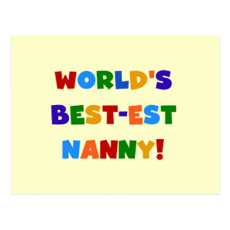 World's Best-est Nanny Bright Colors Gifts Postcard