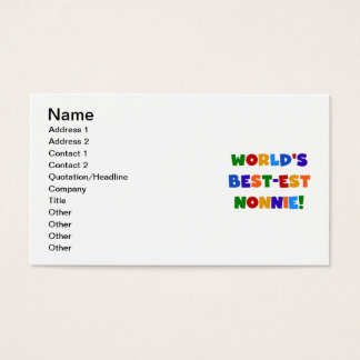 World's Best-est Nonnie Bright Colors Gifts Business Card