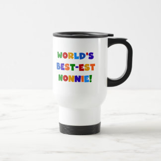 World's Best-est Nonnie Bright Colors Gifts Travel Mug