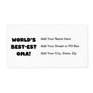 World's Best-est Oma Black or White Gifts Label