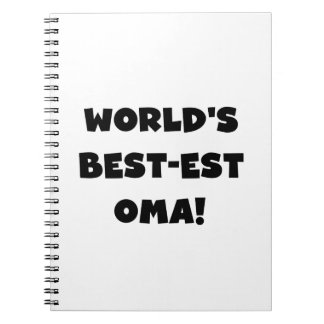 World's Best-est Oma Black or White Gifts Note Books