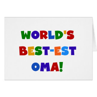 World's Best-est Oma Bright Colors Gifts Card