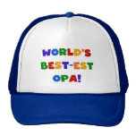 World's Best-est Opa Bright Colors Gifts Trucker Hats