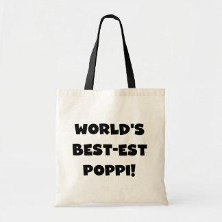 World's Best-est Poppi Black Text Gifts Budget Tote Bag