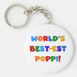 World's Best-est Poppi Bright Colors Gifts Keychain
