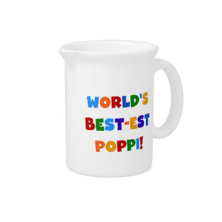 World's Best-est Poppi Bright Colors Gifts Pitchers