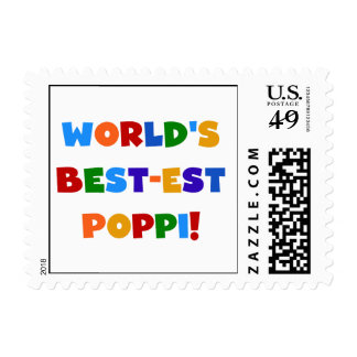 World's Best-est Poppi Bright Colors Gifts Stamps