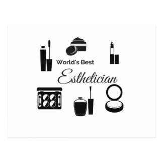 World's Best esthetician 2 Postcard