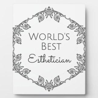 World's Best Esthetician gift 3 Plaque