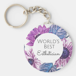 World's Best Esthetician gift 5 Keychain